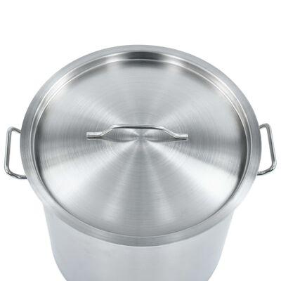 vidaXL Kookpan 33 L 35x35 cm roestvrij staal