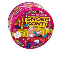 Snoepkont cadeau snoeptrommel 14 x 7,5 cm - bewaarblik / versiering