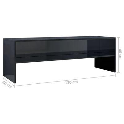 vidaXL Tv-meubel 120x40x40 cm spaanplaat hoogglans zwart