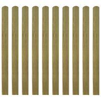 vidaXL 20 st Heklatten 120 cm geïmpregneerd hout