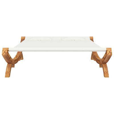 vidaXL Hangmat 165x188,5x46 cm massief vurenhout crèmekleurig