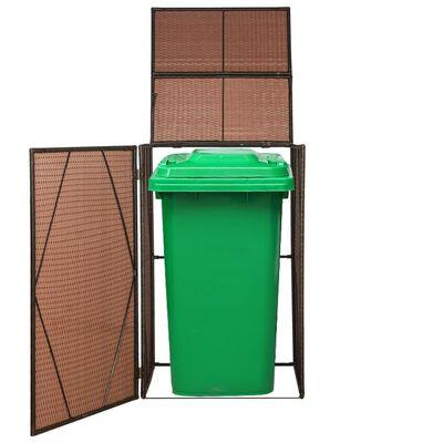 vidaXL Containerberging enkel 76x78x120 cm poly rattan bruin