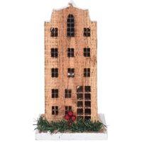 Kerstdorpen bouwen kersthuisjes amterdamse grachtenpand 21 cm - Met