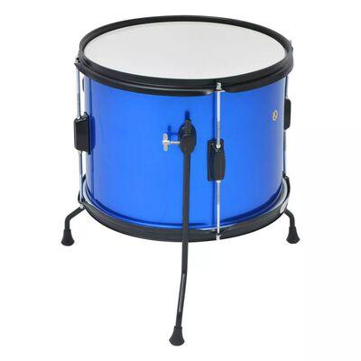 vidaXL Drumstel voor kinderen gepoedercoat staal blauw