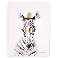 CHILDHOME Olieverfschilderij 30x40 cm zebra