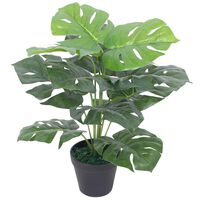 vidaXL Kunstplant met pot monstera 45 cm groen