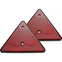 Carpoint lengtedriehoeken 190 x 180 mm rood 2 stuks