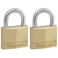 Master Lock Hangslot 40 mm massief messing 2 st 140EURT