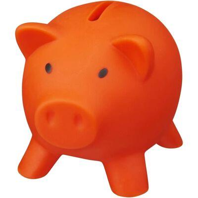 Oranje varken mini spaarpot/spaarvarken 9 cm - Dieren