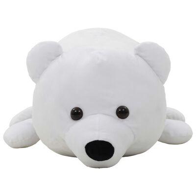 vidaXL Knuffel ijsbeer pluche wit