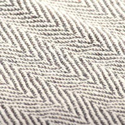 vidaXL Plaid visgraat 220x250 cm katoen grijs