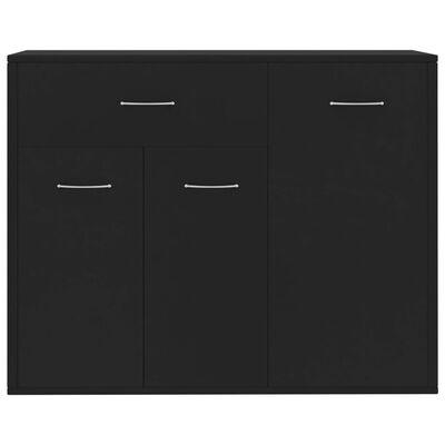 vidaXL Dressoir 88x30x70 cm spaanplaat zwart