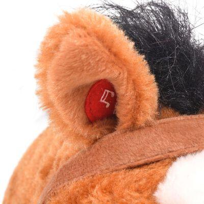 vidaXL Staand knuffelpaard pluche bruin
