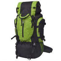 vidaXL Rugzak hiking XXL 75 L zwart en groen