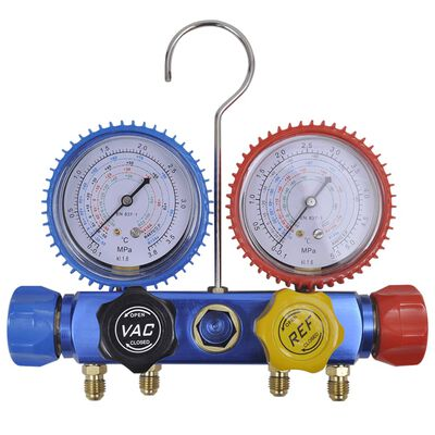 Manometer set voor airco met 4-richtingen