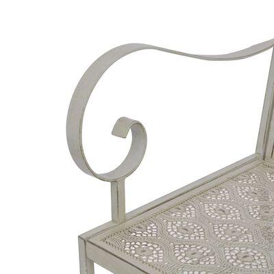 vidaXL Tuinbank 2-zits 161 cm staal grijs