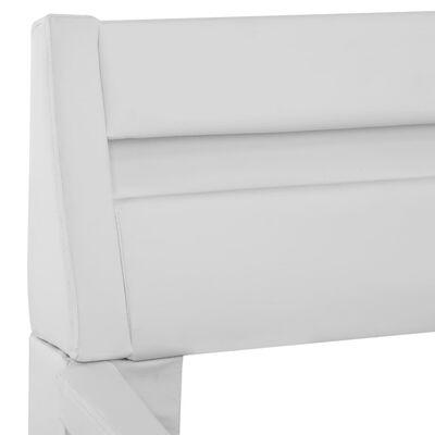 vidaXL Bedframe met LED kunstleer wit 180x200 cm