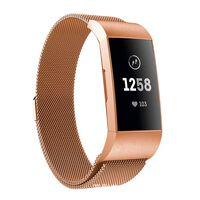 Fitbit Charge 3/4 Armband Milanese Lus Rosé Goud (s)