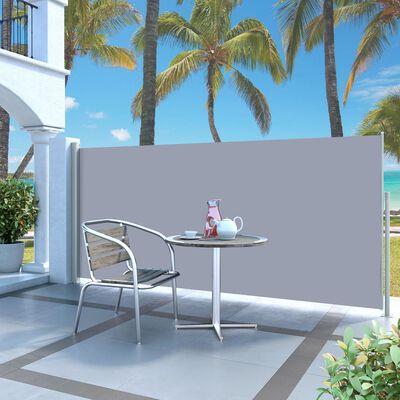 vidaXL Windscherm uittrekbaar 140x300 cm crèmekleurig