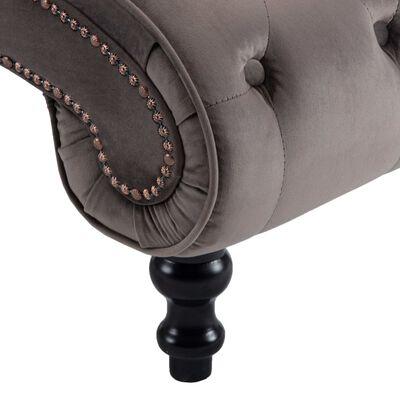 vidaXL Chaise longue fluweel grijs