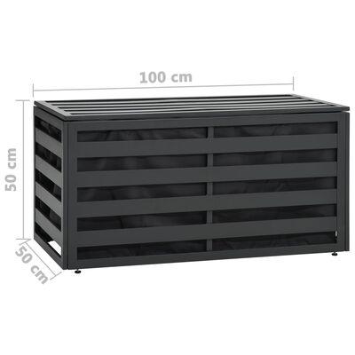 vidaXL Tuinbox 100x50x50 cm aluminum antraciet