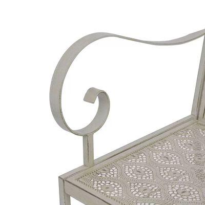 vidaXL Tuinbank 115 cm staal grijs
