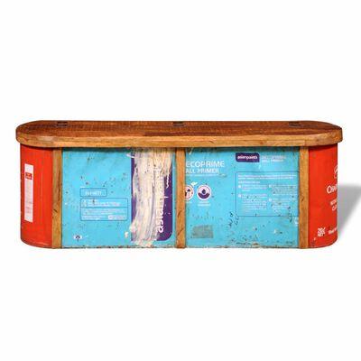 vidaXL Dressoir/opbergbank massief gerecycled hout