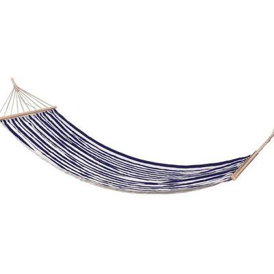 ProGarden Hangmat gestreept 200x80 cm blauw
