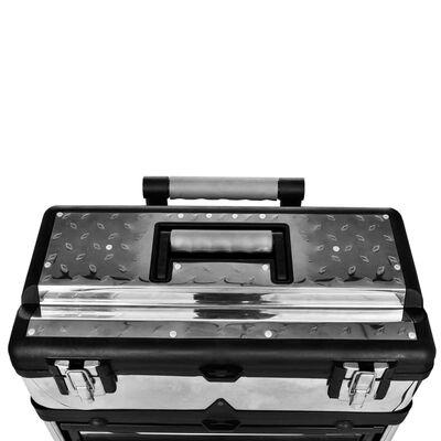 vidaXL Gereedschapswagen verrijdbaar 3-delig