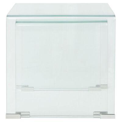 vidaXL Bijzettafel set 2-dlg transparant gehard glas