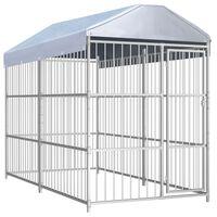 vidaXL Hondenkennel voor buiten met dak 300x150x200 cm