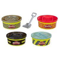Play-doh Wheels Speelset + 4 Potjes Klei En Schepje