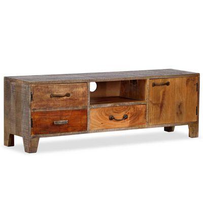 vidaXL Tv-meubel vintage 118x30x40 cm massief hout