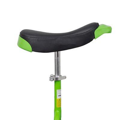 Eenwieler verstelbaar (groen / 16 inch)