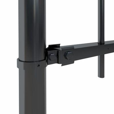 vidaXL Tuinhek met ronde bovenkant 15,3x1 m staal zwart
