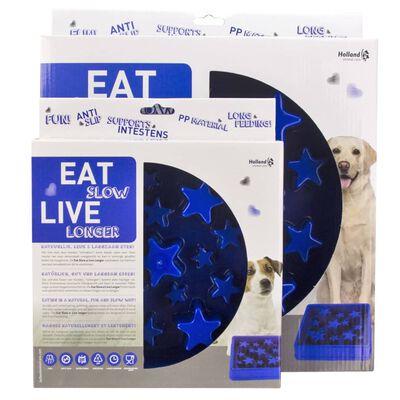 EAT SLOW LE LONGER Slowfeeder Star L blauw