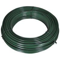 vidaXL Hekspandraad 80 m 2,1/3,1 mm staal groen