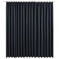 vidaXL Gordijn verduisterend met haken 290x245 cm zwart