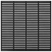 vidaXL Louvre schutting 170x170 cm HKC zwart