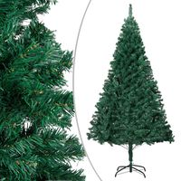 vidaXL Kunstkerstboom met dikke takken 120 cm PVC groen