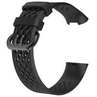 Fitbit Charge 3/4 armband - zwart - S