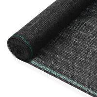 vidaXL Tennisscherm 1,6x25 m HDPE zwart