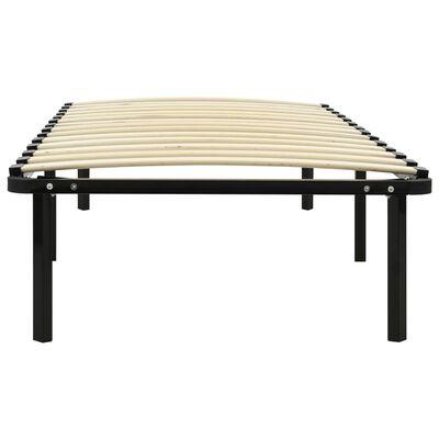 vidaXL Bedframe metaal zwart 100x200 cm