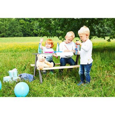 Pinolino Kinderpicknicktafel met bank Nicki für 4 hout grijs