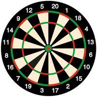 25x Bierviltjes onderzetters dartbord/darten feestartikelen