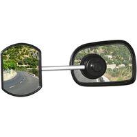 Defa caravanspiegel met zuignap rond 11 cm zwart