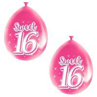 24x Roze Sweet 16 verjaardag ballonnen - 16 jaar verjaardag thema