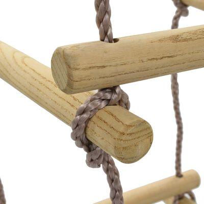 vidaXL Touwladder 200 cm hout