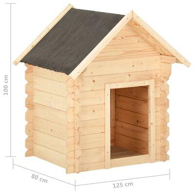 vidaXL Hondenhok 125x80x100 cm 14 mm massief grenenhout