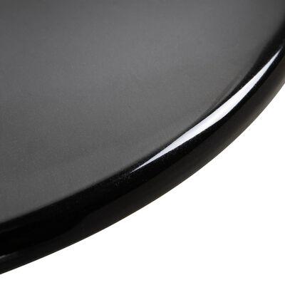 vidaXL Bartafel Ø60 cm ABS zwart